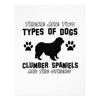 Diseños del perro del perro de aguas de Clumber Membrete Personalizado