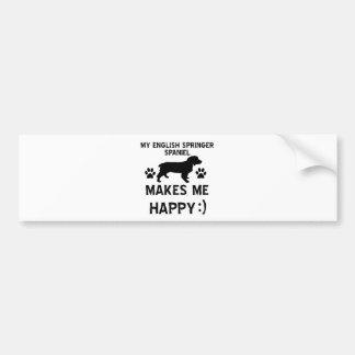 Diseños del perro del perro de aguas de saltador i pegatina de parachoque