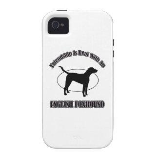 DISEÑOS del PERRO del raposero inglés Vibe iPhone 4 Fundas