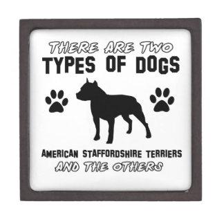 Diseños del perro del terrier de Staffordshire Caja De Joyas De Calidad