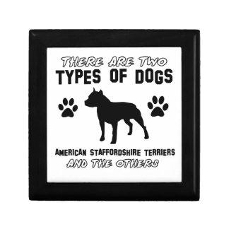 Diseños del perro del terrier de Staffordshire Cajas De Joyas
