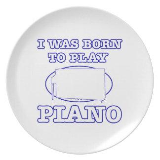 Diseños del piano platos para fiestas