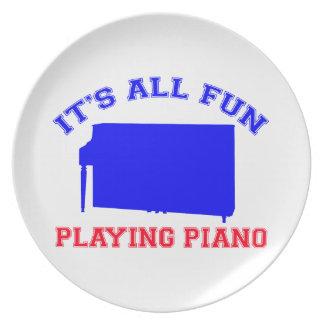 Diseños del piano plato para fiesta