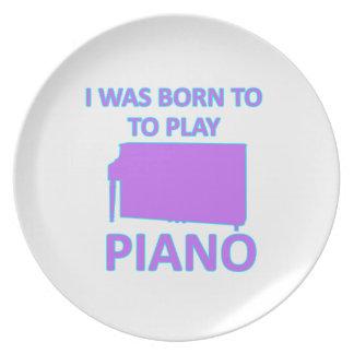 Diseños del piano plato