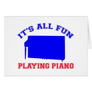 Diseños del piano tarjeta de felicitación