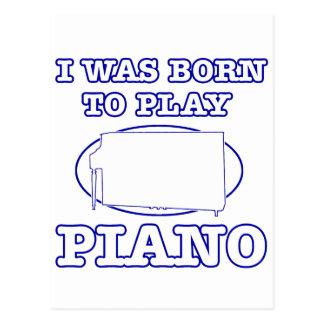 Diseños del piano tarjetas postales