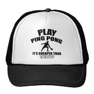 Diseños del ping-pong gorras