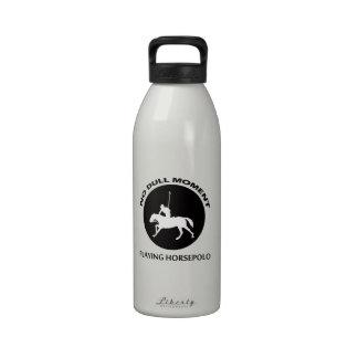 diseños del polo del caballo botella de agua reutilizable