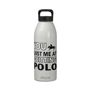 Diseños del polo del caballo botellas de agua reutilizables