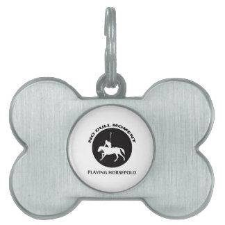 diseños del polo del caballo placas de nombre de mascota