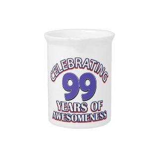 diseños del regalo de 99 años jarra de beber