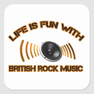 Diseños del rock británico pegatina cuadrada