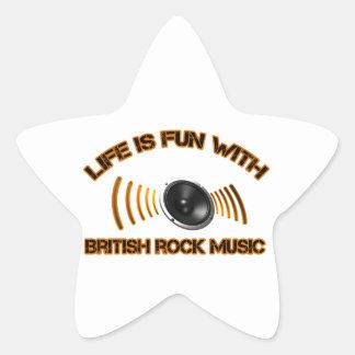 Diseños del rock británico pegatina en forma de estrella