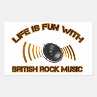 Diseños del rock británico pegatina rectangular