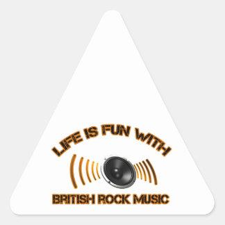 Diseños del rock británico pegatina triangular