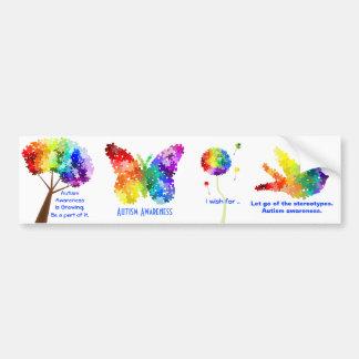Diseños del rompecabezas del arco iris de la ayuda etiqueta de parachoque