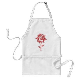 Diseños del rosa rojo delantal