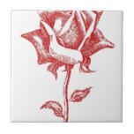 Diseños del rosa rojo tejas  ceramicas