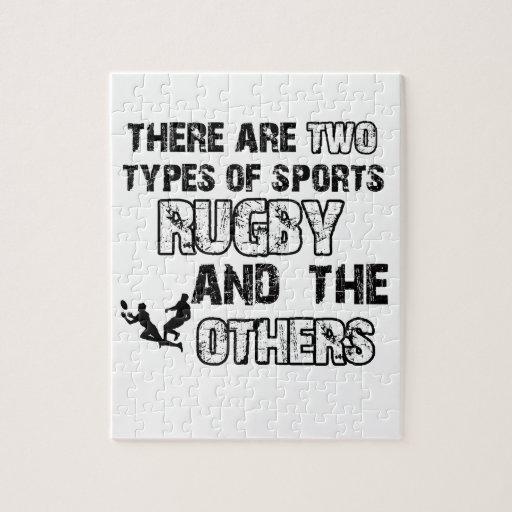 diseños del rugbi para los amantes del deporte puzzle con fotos