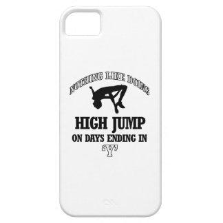 diseños del salto de altura funda para iPhone 5 barely there