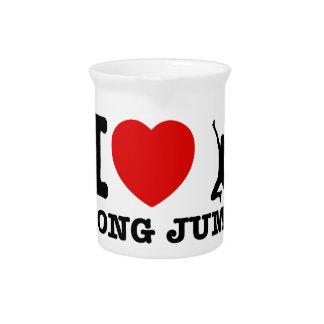 diseños del salto de longitud jarra para bebida