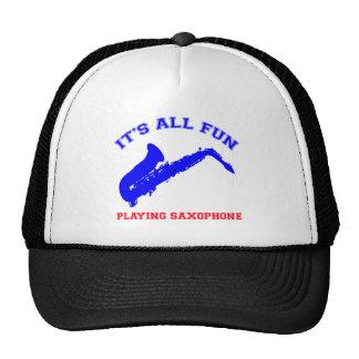 diseños del saxofón gorras de camionero