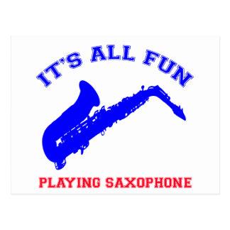 diseños del saxofón tarjeta postal