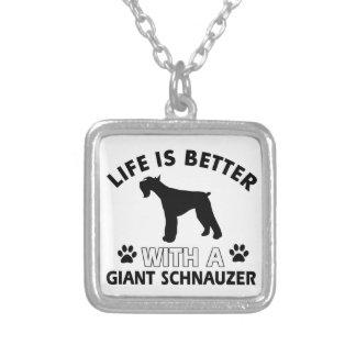 Diseños del Schnauzer gigante Collares Personalizados