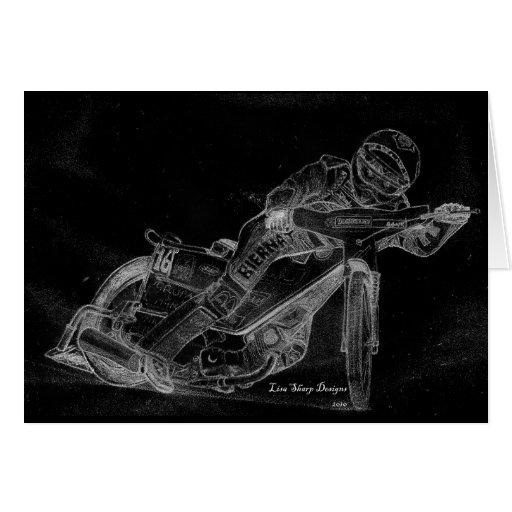 diseños del sostenido. bikeonblack del carretera tarjeta de felicitación
