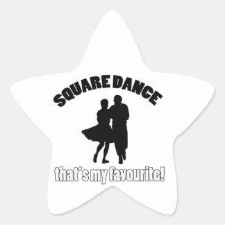 diseños del square dance pegatina en forma de estrella