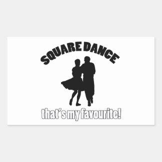 diseños del square dance pegatina rectangular