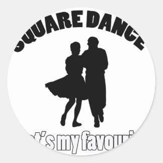diseños del square dance pegatina redonda