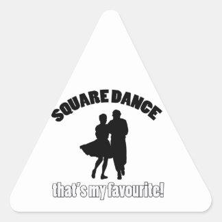 diseños del square dance pegatina triangular