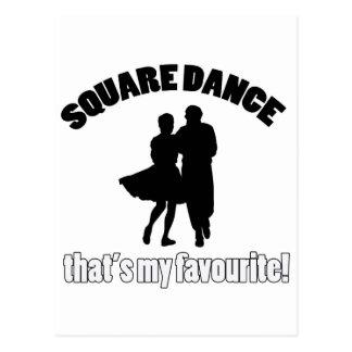 diseños del square dance tarjeta postal