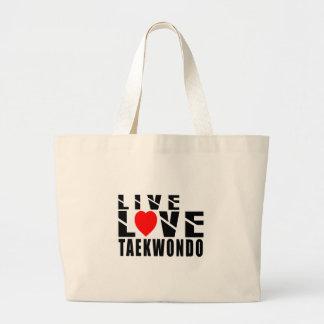 Diseños del TAEKWONDO Bolsa Tela Grande