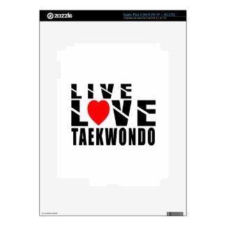 Diseños del TAEKWONDO iPad 3 Pegatinas Skins