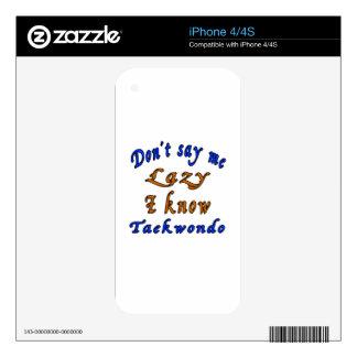 Diseños del Taekwondo Skin Para El iPhone 4