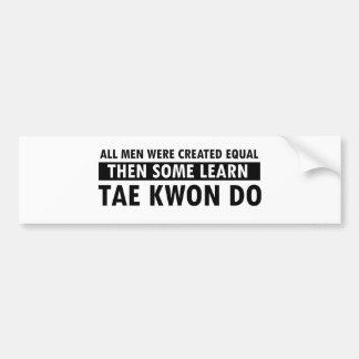 Diseños del Taekwondo Pegatina Para Auto