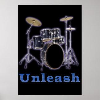 Diseños del tambor póster