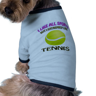 Diseños del tenis camiseta con mangas para perro