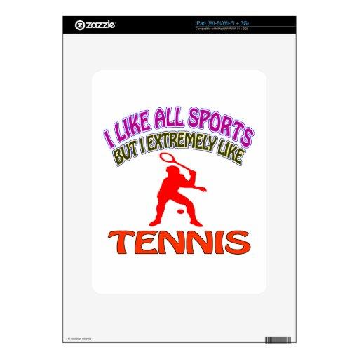 Diseños del tenis skin para el iPad