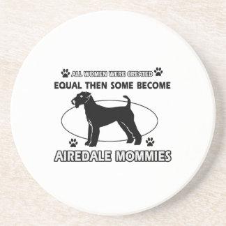 Diseños del terrier de Airedale Posavasos Manualidades