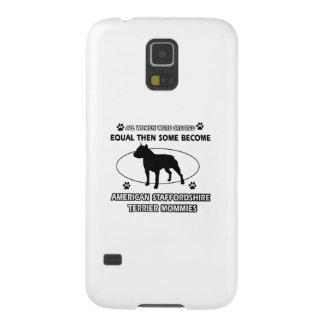 Diseños del terrier de Staffordshire americano Carcasas De Galaxy S5