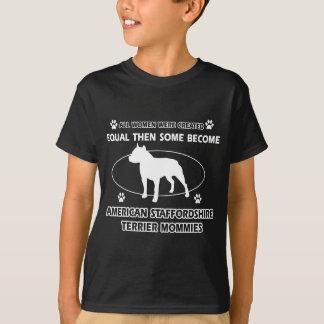 Diseños del terrier de Staffordshire americano Playera