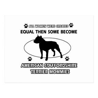 Diseños del terrier de Staffordshire americano Postales