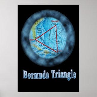 diseños del triángulo de Bermudas Póster