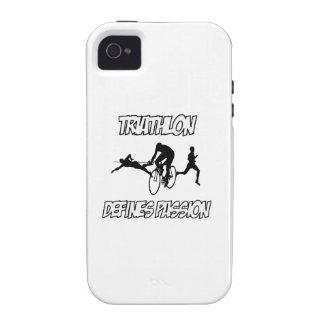 Diseños del TRIATHLON iPhone 4/4S Fundas