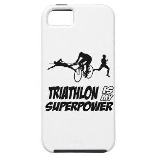 Diseños del Triathlon iPhone 5 Case-Mate Fundas