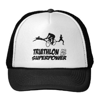 Diseños del Triathlon Gorros Bordados