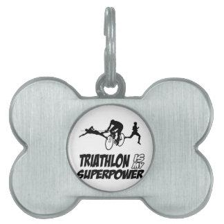 Diseños del Triathlon Placa De Mascota